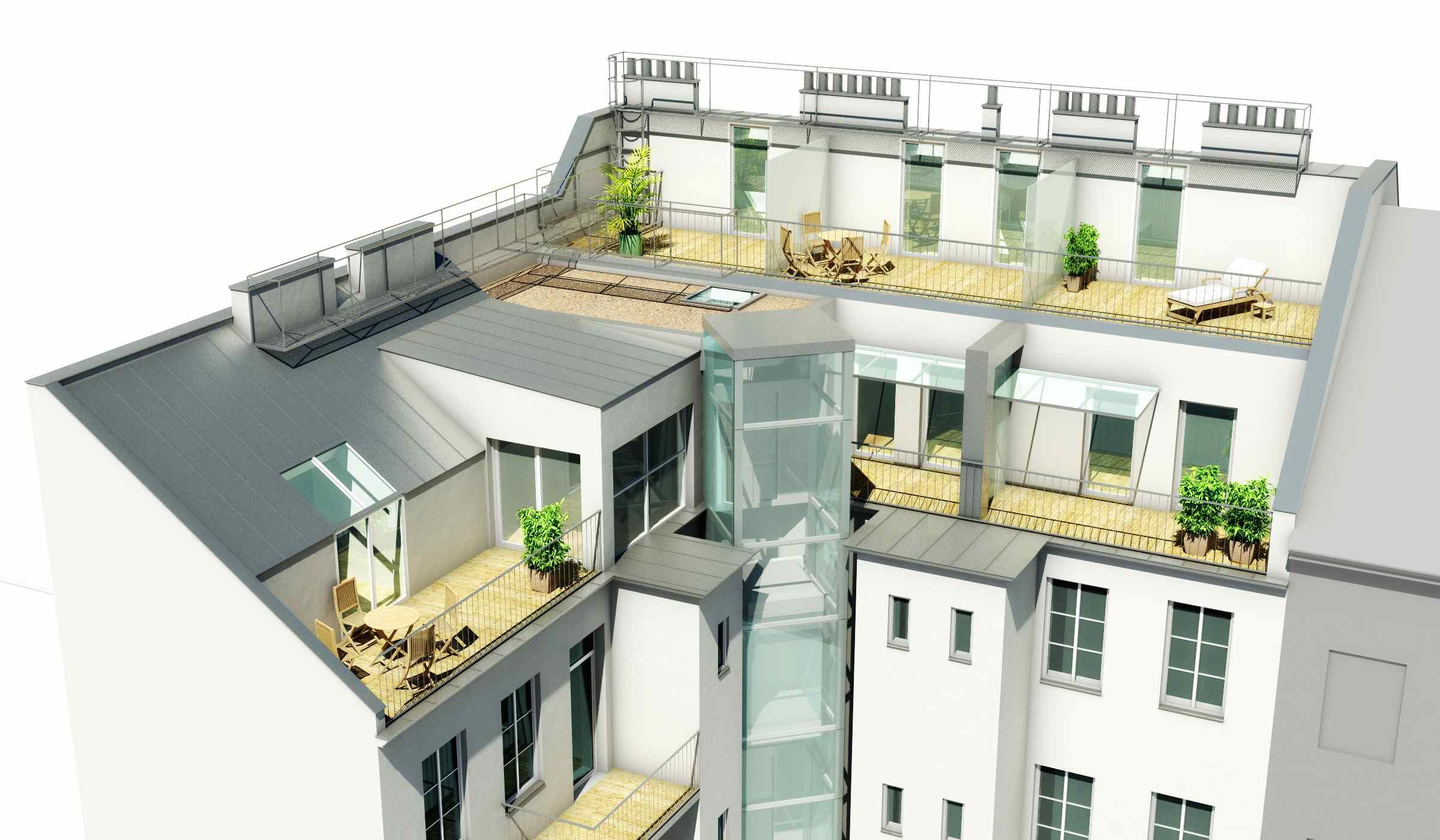 Dachgleichenfeier Dachgeschoßausbau 16,Rückertgasse